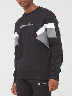 champion-colour-block-crew-sweatshirt-blackgrey