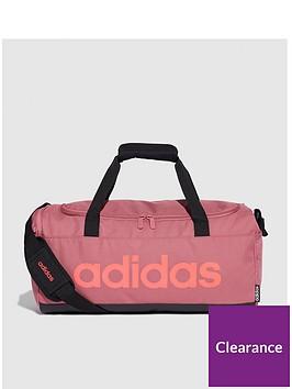 adidas-linear-duffle-fleece-bag-maroon