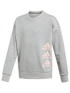 adidas-junior-girlsnbspcrew-neck-sweat-top
