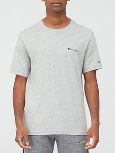 champion-small-logo-t-shirt-grey-marl
