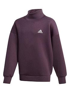 adidas-girls-aeroready-funnel-neck-sweat-top-purple