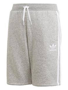 adidas-originals-childrensnbspfleece-shorts-grey-heather