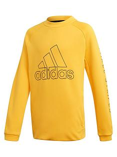 adidas-boys-training-sweat-crew-yellow