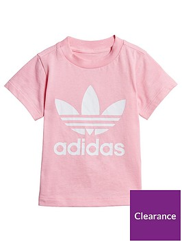 adidas-originals-childrensnbsptrefoil-t-shirt-pink