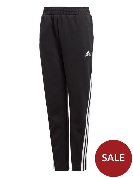 adidas-boys-3-stripes-tapered-pants-black