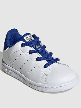 adidas-originals-stan-smith-infant-trainers-whiteblue