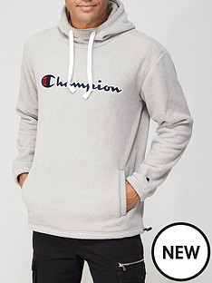 champion-mensnbsppolar-fleece-overhead-hoodie-grey