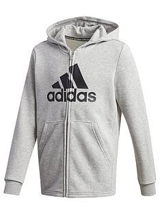 adidas-boys-badge-of-sport-full-zip-hoodie-grey-heather