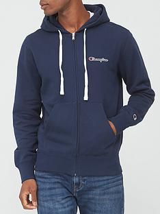 champion-small-logo-full-zip-hoodie-navy