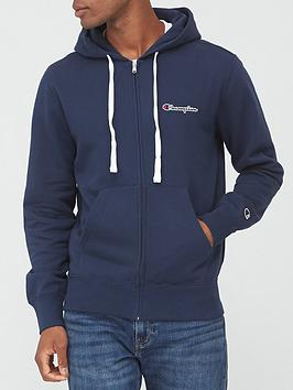 champion-small-logo-full-zip-hoodie-navy