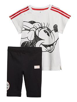 adidas-infant-minnie-mouse-summer-set-blackwhite