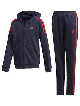 adidas-junior-boys-cotton-tracksuit-navy
