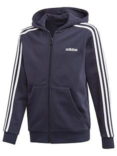 adidas-boys-3-stripes-full-zip-hoodie-navy