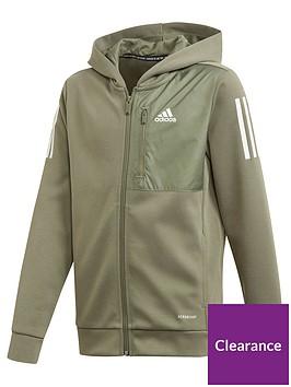 adidas-boys-aeroready-full-zip-hoodie-green