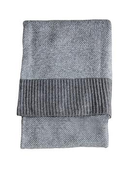 Gallery Gallery Knitted Two-Tone Throw Picture