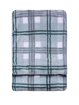 Gallery Gallery Faux Fur Check Throw Picture