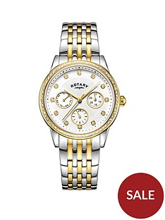 rotary-exclusive-rotary-silver-and-gold-sunray-swarovski-crystal-multi-dial-two-tone-stainless-steel-bracelet-ladies-watch