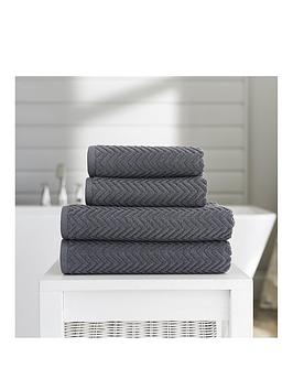 Product photograph showing Deyongs Cassablanca Textured Hand Towel