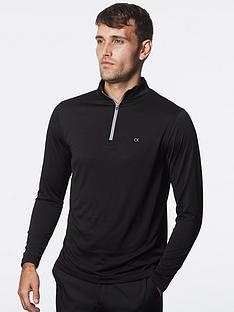 calvin-klein-golf-harlem-tech-14-zip-top-black