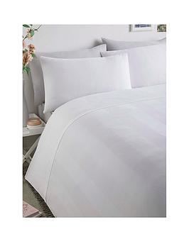 Serene Serene Waffle Stripe Duvet Cover Set - White Picture