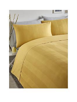 Serene Serene Waffle Stripe Duvet Cover Set - Ochre Picture