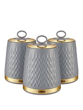Tower Tower Empire Set Of 3 Canisters &Ndash; Grey Picture