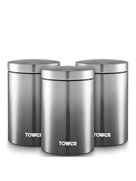 Tower Tower Infinity Ombre Set Of 3 Canisters &Ndash; Grey Picture