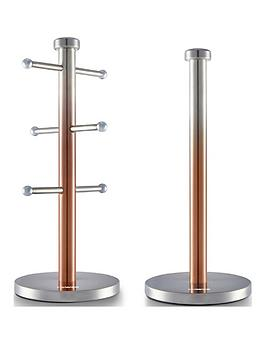 Tower Tower Ombre 6-Cup Mug Tree And Kitchen Towel Pole Set &Ndash; Copper Picture