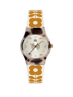 orla-kiely-mini-bobby-grey-tortoise-shell-case-white-and-tan-stem-print-strap-watch