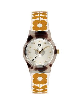 Orla Kiely Orla Kiely Orla Kiely Mini Bobby Grey Tortoise Shell Case White  ... Picture
