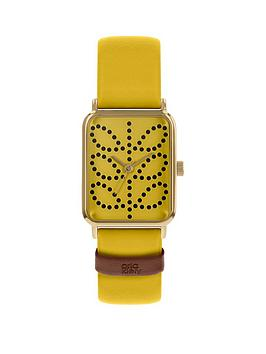 orla-kiely-yellow-stem-print-tank-dial-yellow-leather-strap-watch