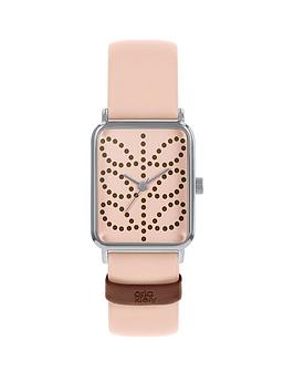 Orla Kiely Orla Kiely Orla Kiely Pink Stem Print Tank Dial Pink Leather  ... Picture