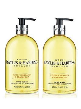 Baylis & Harding   Sweet Mandarin &Amp; Grapefruit 500Ml Hand Wash Duo