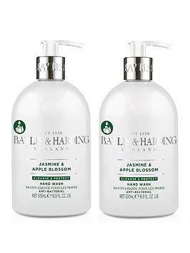 Baylis & Harding   Jasmine &Amp; Apple Blossom Anti Bacterial 500Ml Hand Wash Duo