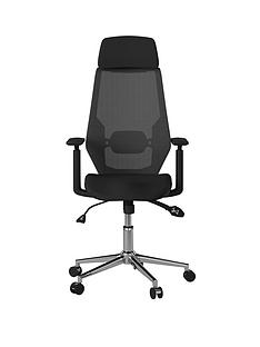alphason-clifton-mesh-desknbspchair-black