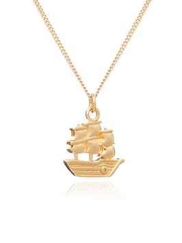 by-river-by-river-gold-plated-sterling-silver-friend-ship-sailing-ship-charm-pendant-necklace
