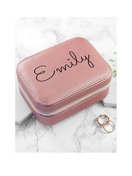 Very Personalised Pink Travel Jewellery Case Picture