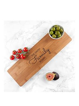 Personalised Bamboo Family Serving Board