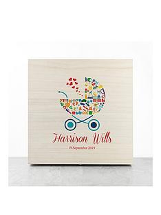 personalised-pram-baby-boy-memory-box