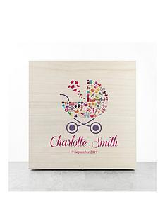 personalised-pram-baby-girl-memory-box