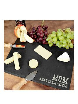 Very Personalised Rustic Slate Cheese Board Picture