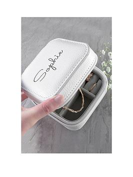 Very Personalised White Travel Jewellery Case Picture