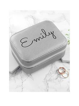 Very Personalised Silver Travel Jewellery Case Picture