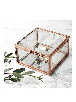 Very Personalised Rose Gold Glass Trinket Box Picture