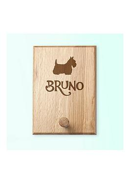 Very Personalised Dog Silhouette Peg Hook Picture