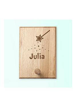 Very Personalised Fairy Dust Peg Hook Picture