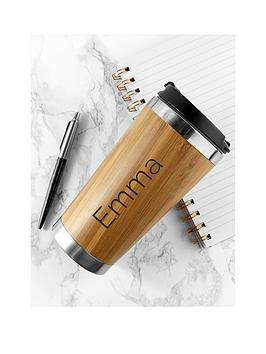 Very Personalised Bamboo Travel Mug Picture