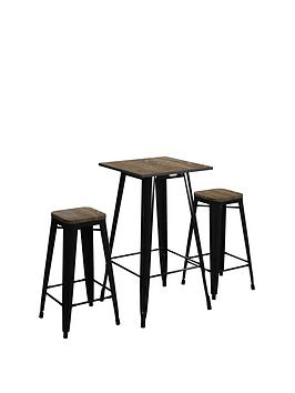 Very Fusion Bar Table + 2 Stools Picture