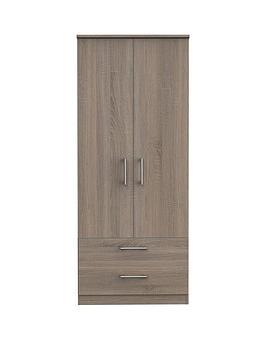 Swift Swift Halton Ready Assembled 2 Drawer, 2 Door Wardrobe Picture