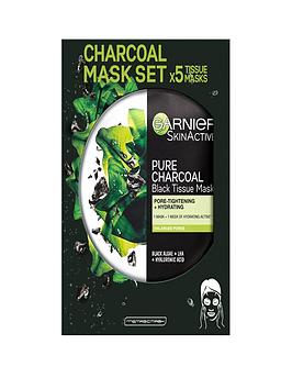 garnier-charcoal-and-algae-purifying-and-hydrating-face-sheet-mask-for-enlarged-pores-5-pack